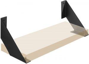 montaje en pared negro triangulares soportes para estantes soportes para estanter/ías en /ángulo recto Soportes para estante de alta resistencia