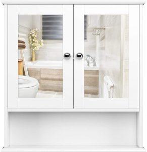 estantería con puerta homfa baño
