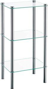 estantería de cristal kela