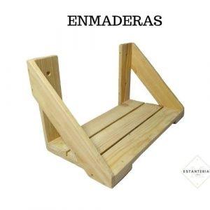 estante de madera enmaderas