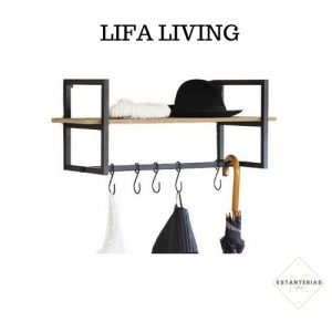 estantería con perchero lifa living