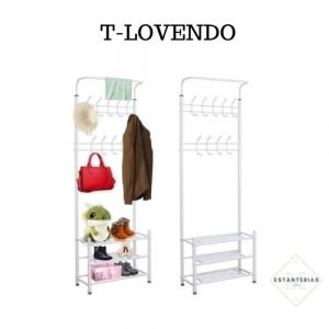 estantería con perchero t-lovendo
