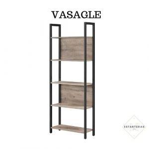 estantería de hierro y madera vasagle