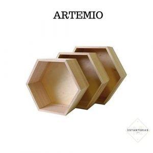 estantería hexagonal artemio
