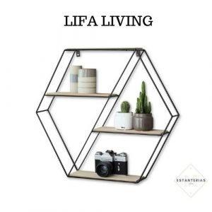 estantería hexagonal lifa living