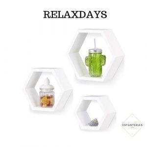 estantería hexagonal relaxdays