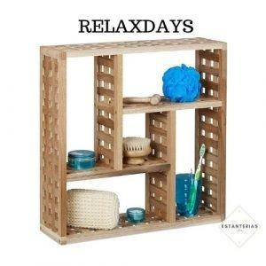 estantería rústica relaxdays