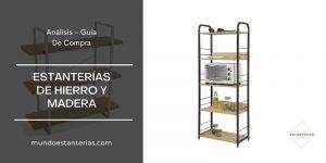 mejores estanterías de hierro y madera